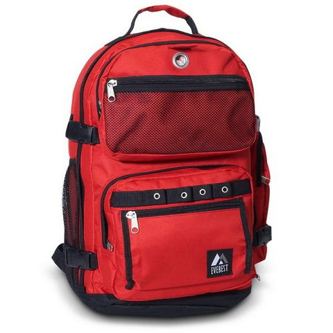 Everest 3045R Oversize Deluxe Backpack - Red/Black