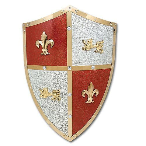 Medieval Royal Crusader Lion Shield Armor w/ handle