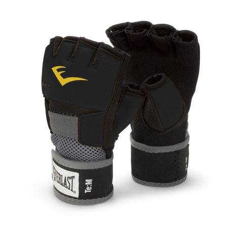 EVERLAST EVERGEL GLOVE WRAPS XL-BLACK-boxing training mma handwraps - SparringGearSet.com