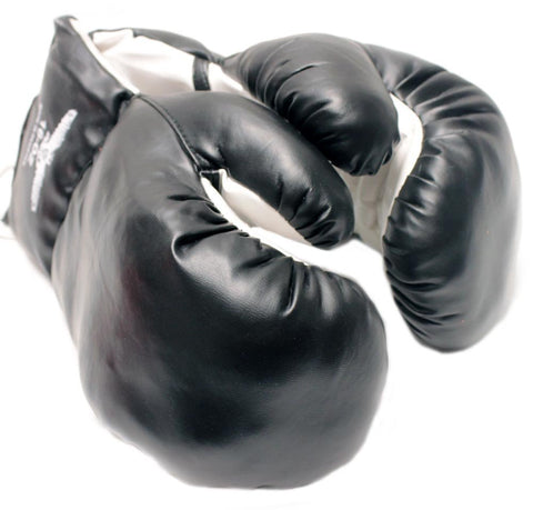 1 Pair Black 16oz Punching Boxing Gloves for Fighters by Rex