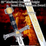 "39 "" Medieval Crusader Knight Israel King Solomon Sword"