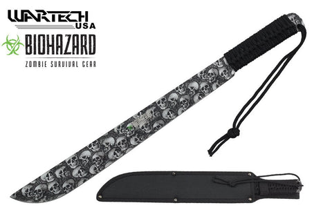 Bioharzard Full Tang Zombie Survival Hunting Machete Knife