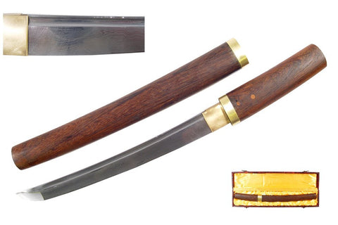 "21"" Handmade Sharp Japanese Shirasaya Samurai Tanto Sword"
