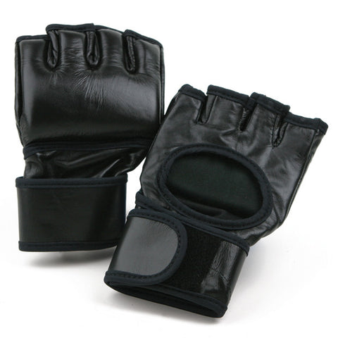 MMA Leather Fight Glove - SparringGearSet.com - 1