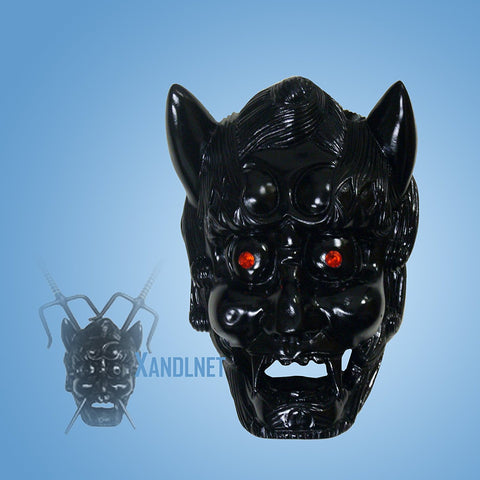 Black Demon Face Mask 2 PC Sai Holder Wall Display