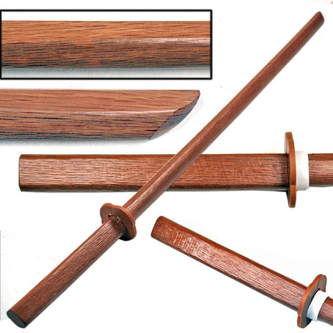 Ace Martial Arts Supply Kendo Wooden Natural Bokken Practice Samurai Katana Sword, 40-Inch (Natural with No Cord)