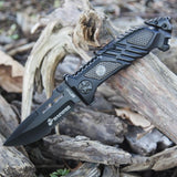 1 X Unlimited Wares USMC Marines Tactical Assisted Opening Folding Knife 5.25-Inch Closed