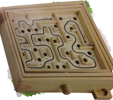 "12"" Wooden Labyrinth"