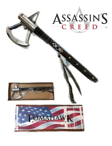 "17.5"" Battle Axe of Assassin's Creed 3 Video Game Tomahawk Connor's Heavy Axe"