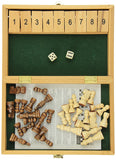 Recreational Chess & Shut The Box Strategy Game Set, White/Brown