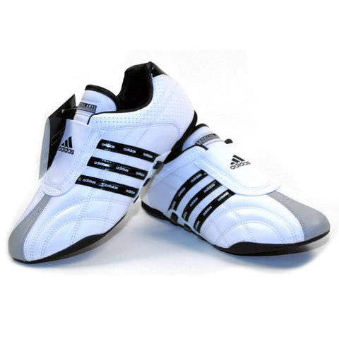 Adidas ADI-LUXE Shoes, White w/ Black Stripes - SparringGearSet.com - 1
