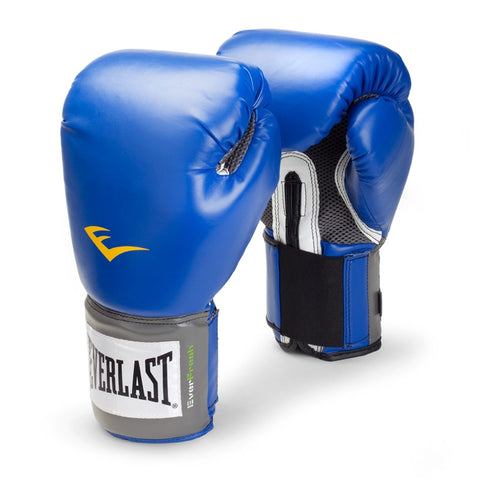 Pro Style Training Gloves - Blue - 8 oz - SparringGearSet.com