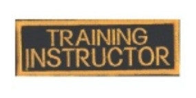 Training Instructor Patch, Black with Gold - SparringGearSet.com
