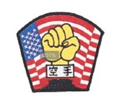 KARATE + FLAG PATCH - SparringGearSet.com