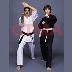 GTMA KARATE GI  100% COTTON - BLACK - SparringGearSet.com - 1