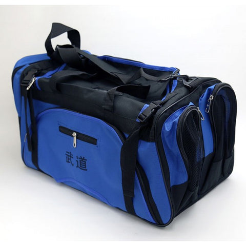 Martial Arts Gear Bag with Mesh On Side-Blue