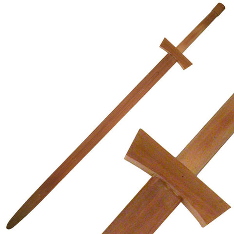 Wooden Medieval Knight Sword 48 inch - SparringGearSet.com