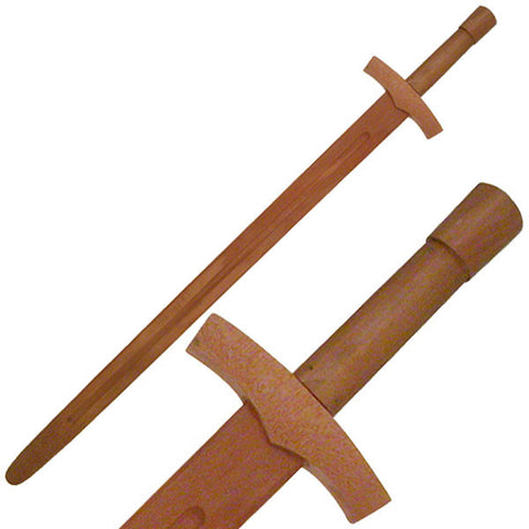 Wooden Medieval Knight Sword 38 inch - SparringGearSet.com