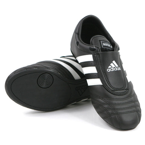 Adidas SM II Shoes, Black with White Stripes - SparringGearSet.com