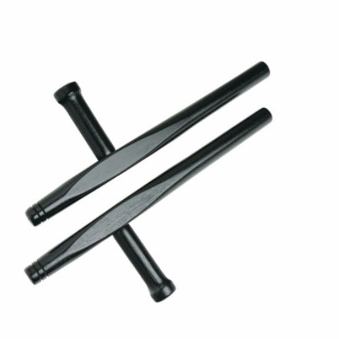 "Junior Hardwood Tonfa, Black 14"" - SparringGearSet.com"