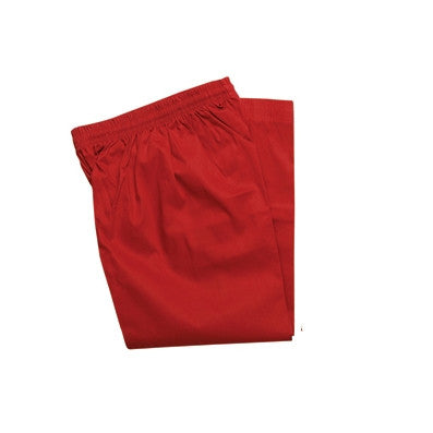 Color Martial Arts Uniform Pants (Karate and Taekwondo), Red - SparringGearSet.com - 1