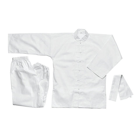 White Kung Fu Uniform - SparringGearSet.com - 1