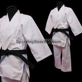 Single Weave Judo Gi - White - SparringGearSet.com - 1
