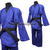 Single Weave Judo GI - Blue - SparringGearSet.com - 1