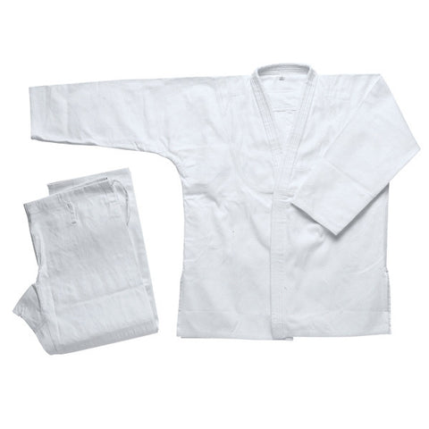 White Jiu Jitsu Uniform - SparringGearSet.com - 1