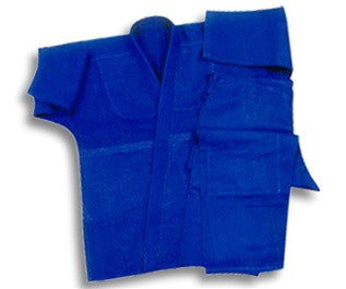 Blue Single Weave Jujitsu Uniform - SparringGearSet.com - 1