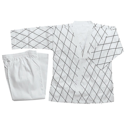 Hapkido Uniform - White w/ Black Stitching - SparringGearSet.com - 1