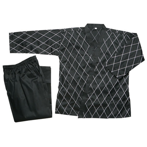 Hapkido Uniform - Black w/ White Stitching - SparringGearSet.com - 1