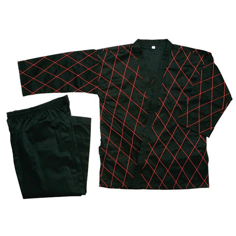 Hapkido Uniform - Black w/ Red Stitching - SparringGearSet.com - 1