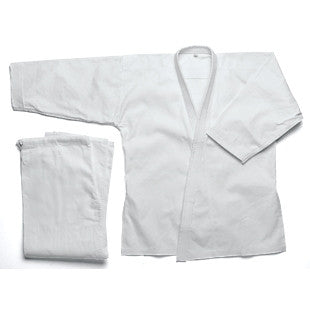 Karate Uniform 10 oz, White - SparringGearSet.com - 1