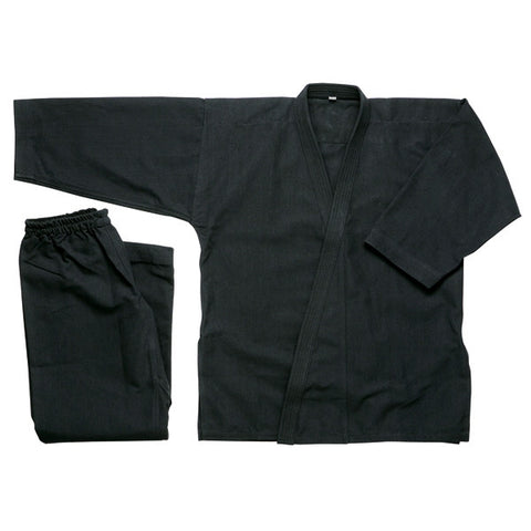 Karate Uniform 10 oz, Black - SparringGearSet.com - 1