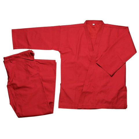 Heavy Weight Karate Uniform 12 oz - Red - SparringGearSet.com - 1