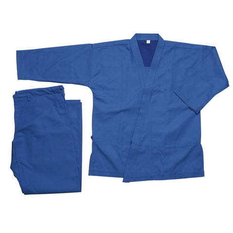 Heavy Weight Karate Uniform 12 oz - Blue - SparringGearSet.com - 1