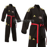 Adidas Champion 2 Taekwondo Uniform, All Black - SparringGearSet.com - 4