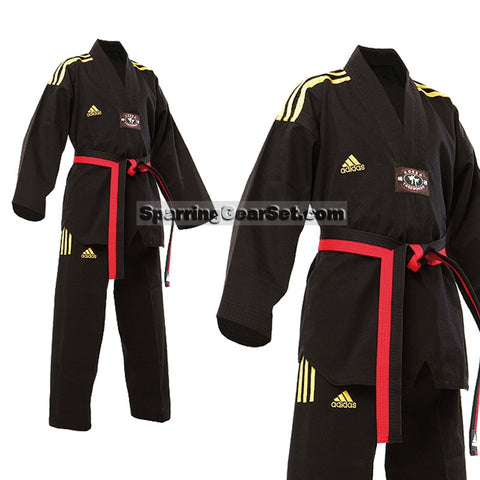 Adidas Champion 2 Taekwondo Uniform, All Black - SparringGearSet.com - 1