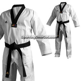 Adidas Adichamp 3 TKD Uniform, Black Lapel - SparringGearSet.com - 1