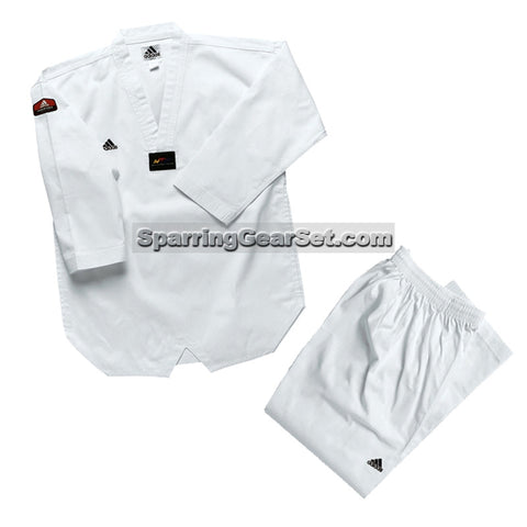 Adidas Adi-Start Taekwondo Uniform, White Lapel - SparringGearSet.com - 1
