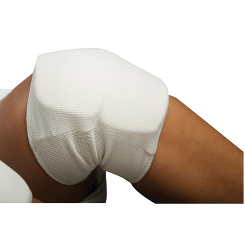 White Cloth Knee Pad - SparringGearSet.com - 2
