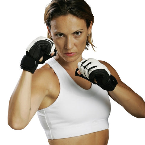 Turtle Shell Sports Bra, White - SparringGearSet.com - 2