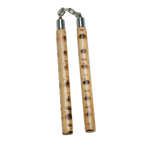 Traditional Wooden Nunchaku, Tiger - SparringGearSet.com
