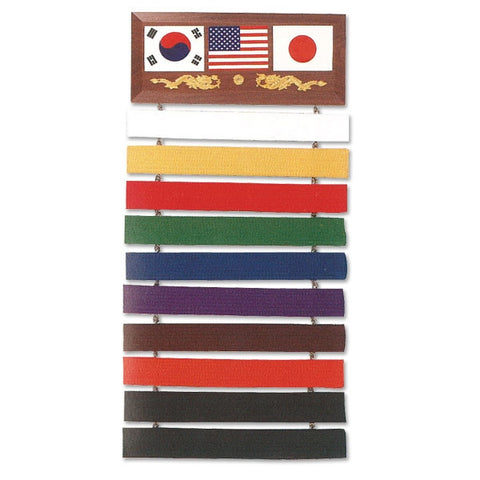 10 Level Martial Arts Belt Display Rack - SparringGearSet.com