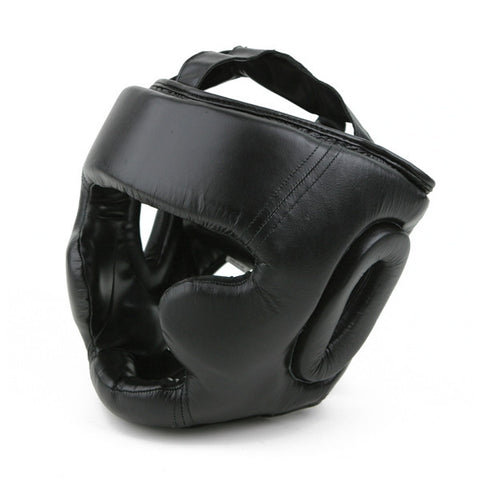 Leather Head Gear with Cheek Protection - SparringGearSet.com - 1