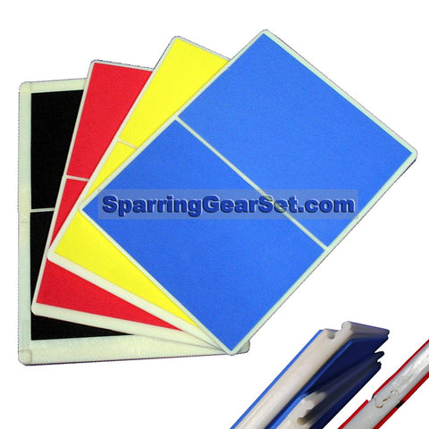 Martial Arts Rebreakable Board Set Yellow Blue Red Black - SparringGearSet.com - 1