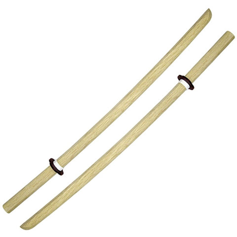 Pair of 40 White Oak Daito Bokken - SparringGearSet.com