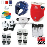 Adidas Supreme Taekwondo Sparring Gear Set w/ Shin Guards and Groin - SparringGearSet.com - 1