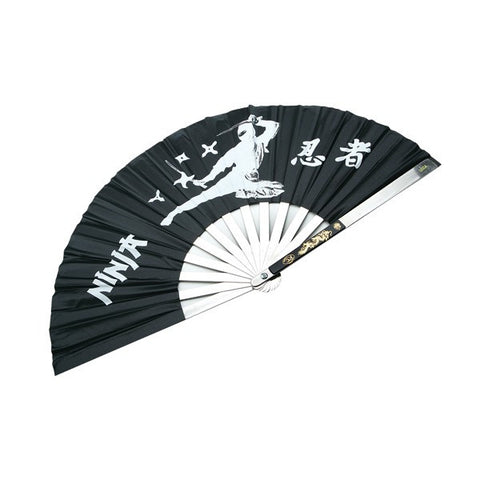 Stainless Steel Black Fighting Fans - Flying Ninja